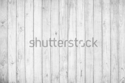 Fototapet White wood texture background