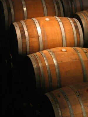 Fototapet Winetrummor i källaren