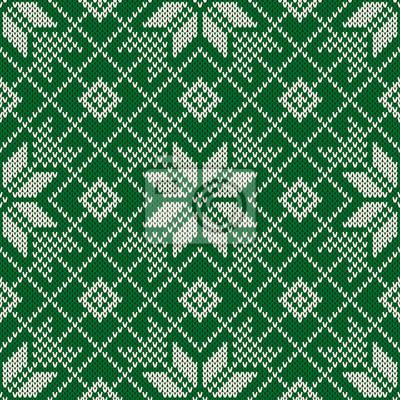 409388dd Fototapet Winter Holiday Seamless Stickad mönster. Nordic tröja Design