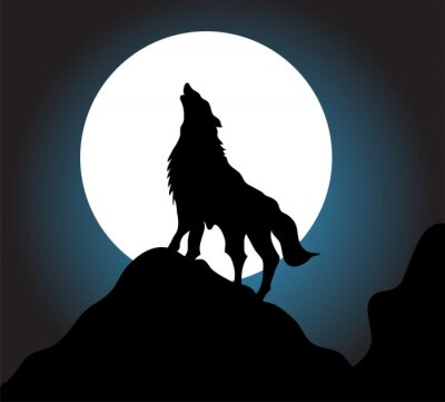 Fototapet Wolf tjut bakgrund
