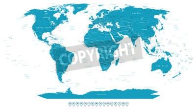 Fototapet World Map och navigering ikoner - illustration.