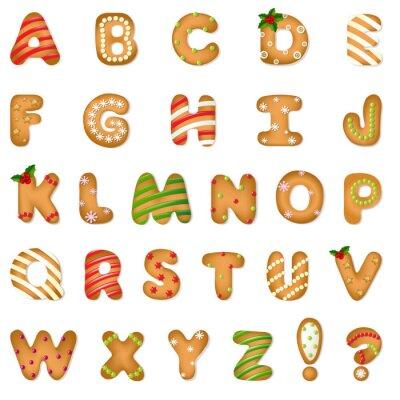 Fototapet Xmas Pepparkakor cookie alfabetet