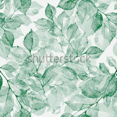 Fototapet Akvarell ljusa underbara löv sömlösa mönster Z. Underbara tryck av akvarell skisser för hand. Retro. Årgang. Tonas.