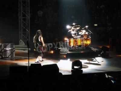 Fototapet Konsert av bandet â € œMetallicaâ €, Rom 24 juni 2009. Scenen