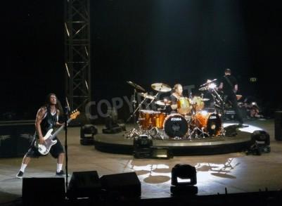 Fototapet Konsert av bandet â € œMetallicaâ €, Rom den 24 juni, 2009. Bandet.