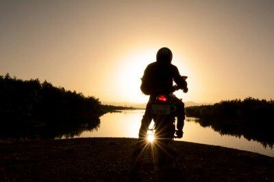 Fototapet motorsiklet ile Doğa turu