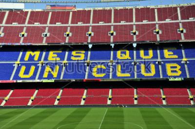 Fototapet Närbild på fotbollsstadion Camp Nou i Barcelona, Spanien.