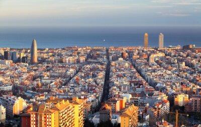 Fototapet Stadsbild i Barcelona, Spanien