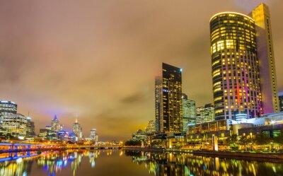 Fototapet Yarra River och Melbourne skyline.