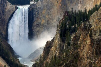 Fototapet Yellowstone fallet