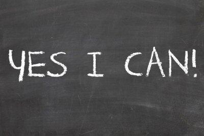 Fototapet Yes I Can motivational formulerar