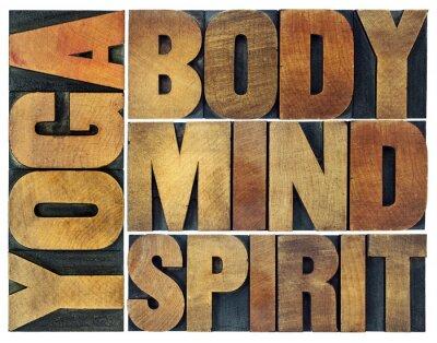 Fototapet yoga, kropp, sinne, själ och ande