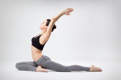 Fototapet yoga kvinna