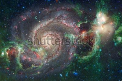 Fototapet Yttre rymdkonst. Nebulor, galaxer och ljusa stjärnor i vacker komposition. Delar av denna bild från NASA