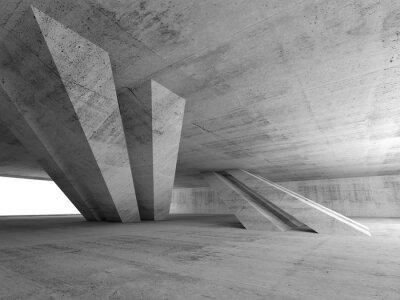 Väggdekor 3d abstrakt tom betong room interior