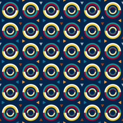 Väggdekor 70s stil mönster