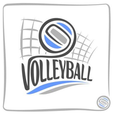 Väggdekor Abstrakt bakgrund på volleyboll tema