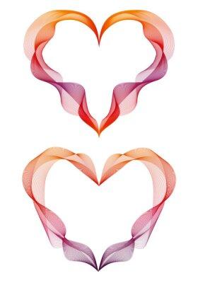 Väggdekor abstrakt band hjärtan, vektor