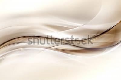 Väggdekor Abstrakt brun vågdesignbakgrund