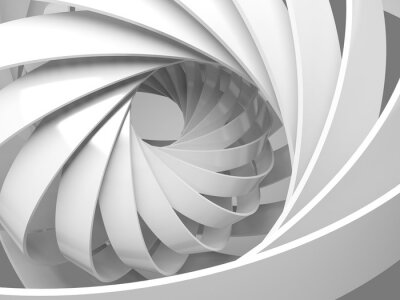 Väggdekor Abstrakt digital bakgrund med 3d spiral struktur