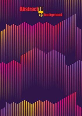 Väggdekor Abstrakt färgglad musikalisk iIllustration. Eps10 vektorillustration