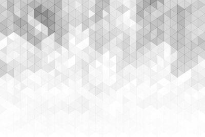 Väggdekor Abstrakt geometrisk bakgrund med grå och vit färgton triangeln former.