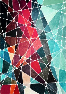 Väggdekor abstrakt geometrisk grunge bakgrund