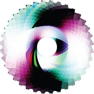 Väggdekor Abstrakt geometrisk utformning. vektor bakgrund