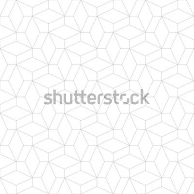 Väggdekor Abstrakt geometriskt mönster med korsande tunna linjer. Snygg struktur i grå färg. Seamless linjärt mönster.