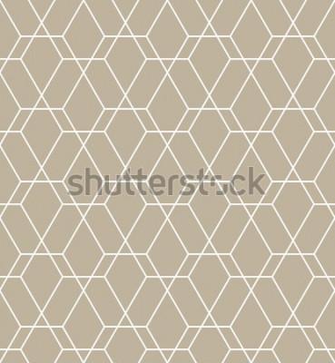 Väggdekor Abstrakt geometriskt mönster med linjer. En sömlös vektorbakgrund. Grafiskt modernt mönster.
