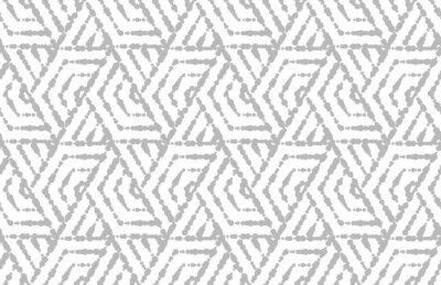 Väggdekor Abstrakt geometriskt mönster med ränder, linjer. Vit och grå prydnad. Enkel grafisk design för galler.