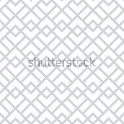 Väggdekor Abstrakt geometriskt mönster med rutor, romb. En sömlös vektorbakgrund. Grått och vitt grafiskt mönster.