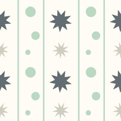 Väggdekor abstrakt geometriskt seamless vektor mönster bakgrund illustration