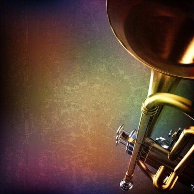 Väggdekor abstrakt grunge bakgrund med trumpet