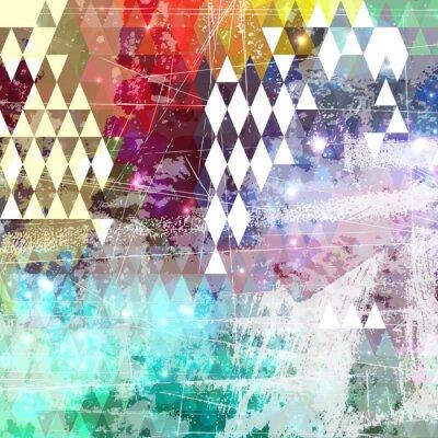 Väggdekor Abstrakt grunge stil bakgrund med bekymrat verk
