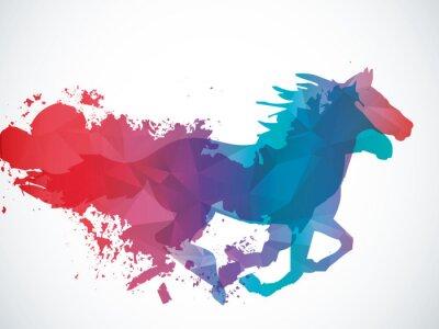Väggdekor abstrakt häst