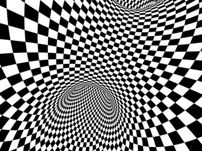 Väggdekor abstrakt illusion