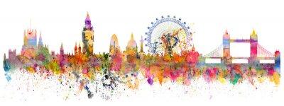 Väggdekor Abstrakt illustration av London skyline