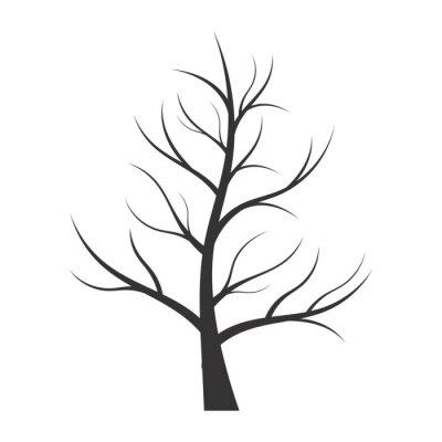 Väggdekor Abstrakt illustration - treesilhouette