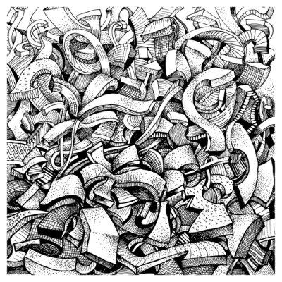 Väggdekor Abstrakt klotter
