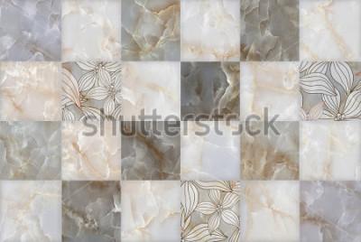 Väggdekor Abstrakt marmorstenblock välsignad