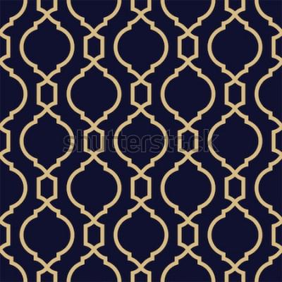 Väggdekor Abstrakt mönster i arabisk stil. Sömlös geometrisk vektorbakgrund.