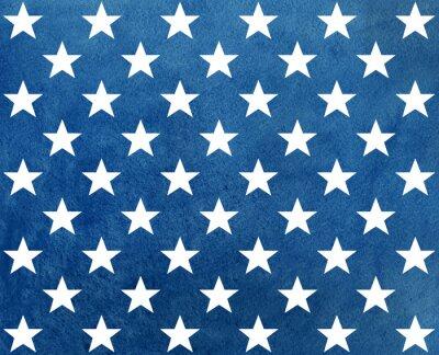 Väggdekor Abstrakt mörkblå akvarell mönster med vita stjärnor.