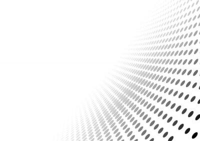 Väggdekor Abstrakt prickade perspektiv bakgrund - gradient effekt Illustration, Vector