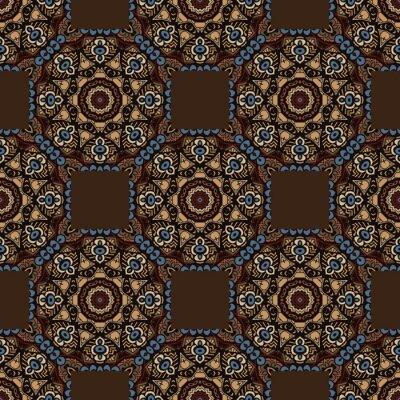 Väggdekor abstrakt seamless färgstarka etnisk mönster. sömlös bakgrund