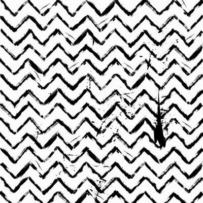Väggdekor abstrakt seamless sicksack mönster svart och vitt