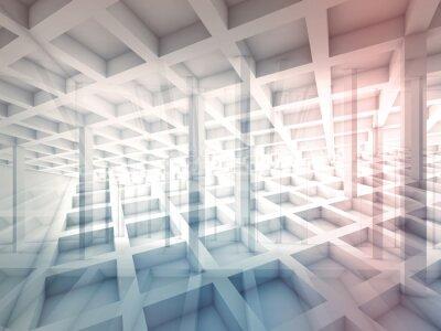 Väggdekor Abstrakt skuren cellstrukturer, 3d illustration