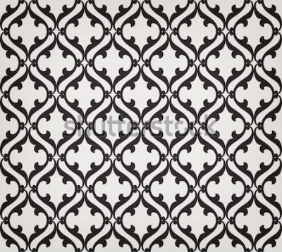 Väggdekor Abstrakt sömlös blommönster för tappning. Korsar krökt elegant stiliserade blad och rullar som bildar abstrakt blommig prydnad i arabisk stil. Arabesk. Dekorativt galler