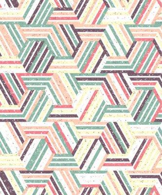 Väggdekor Abstrakt sömlösa mönster av ett flertal trianglar och ränder. Texturerad bakgrund.