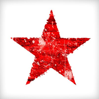 Väggdekor Abstrakt stjärna på en vit bakgrund